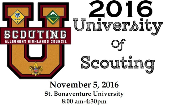 2016 University of Scouting November 5, 2016