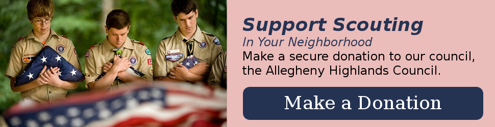 Make a donation to the Allegheny Highlands Council