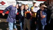 Boys fundraising by selling candy bars at the 2009 Fall Festival in Ellicottville, NY